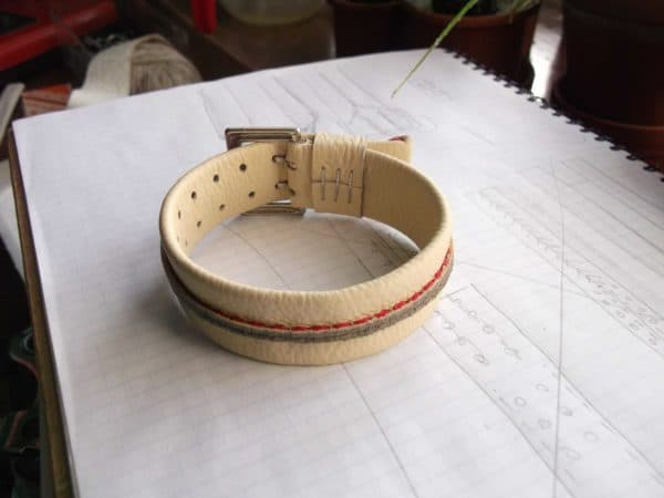 Bracelets From Leather Waste Accessories