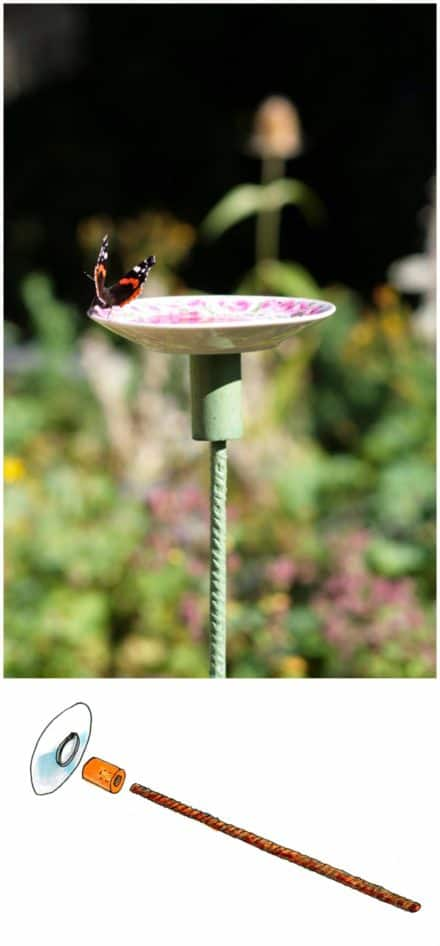 Old Saucer Into Butterfly Feeding Place