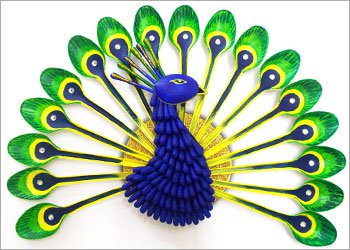 Diy Home Decor: How To Make Beautiful Peacock With Plastic Spoon Do-It-Yourself Ideas Recycled Art