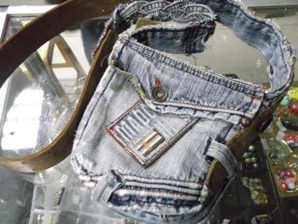 Old Jeans & Belt to New Bag Accessories Clothing