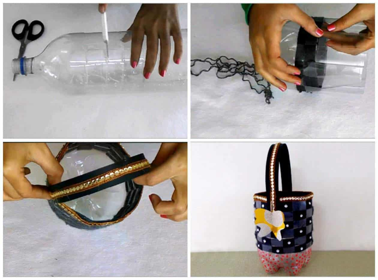 Recycle Bottle Craft How To Make Utility Basket From
