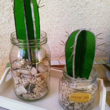 Recycled Glass Into Amazing Cactus
