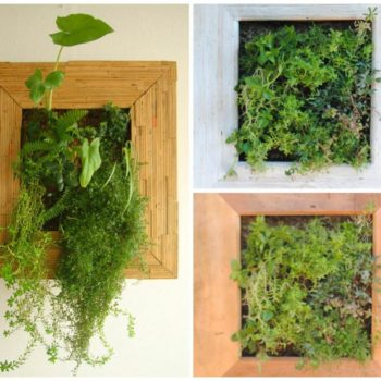 Scrap Wood Into Decorative Wood Frame Planters