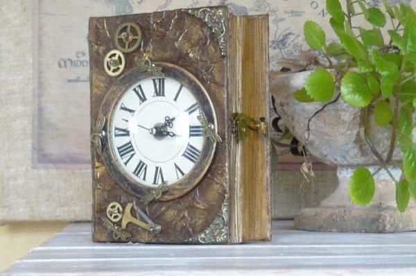 Scrapbook Chest Clock Accessories Recycling Paper & Books