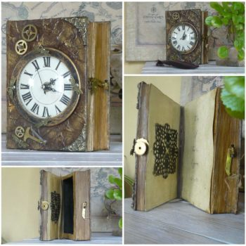 Scrapbook Chest Clock