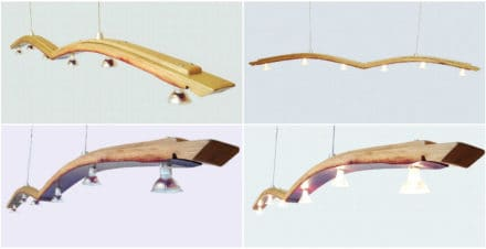 Seagull, Recycled Wine Barrel Stave Into Kitchen Island Light