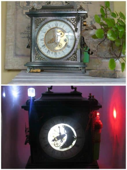 Steampunk Lamp From an Old Clock