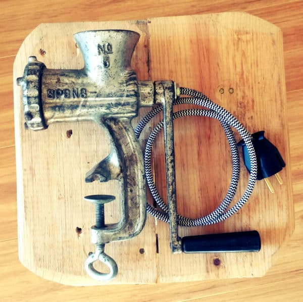 Upcycled Meat Mincer Lamps Lamps & Lights