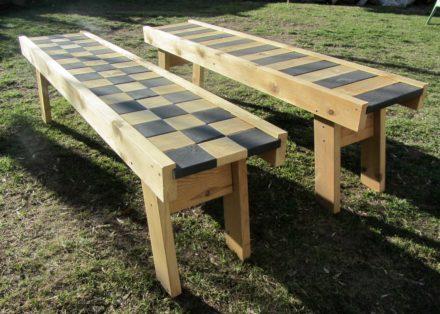 Bench Made Of A Damaged Futon Frame