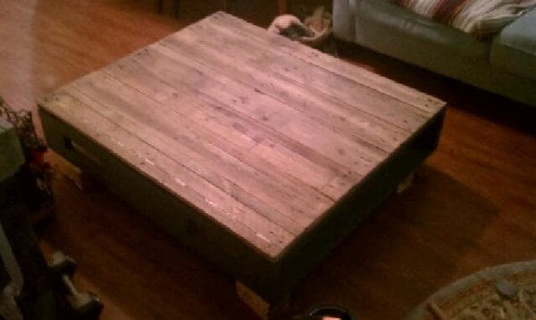 Coffee Table Made from a Couple of Old Pallets Recycled Pallets