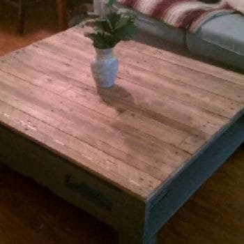 Coffee Table Made from a Couple of Old Pallets