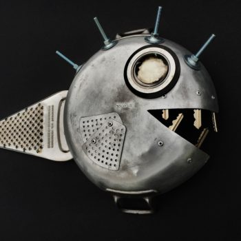 Iron Fish from Recycled Dishware