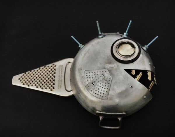 Iron Fish from Recycled Dishware Recycled Art