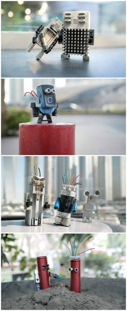 Make Art, Not Waste: Recycled Characters Out Of Electronic Waste