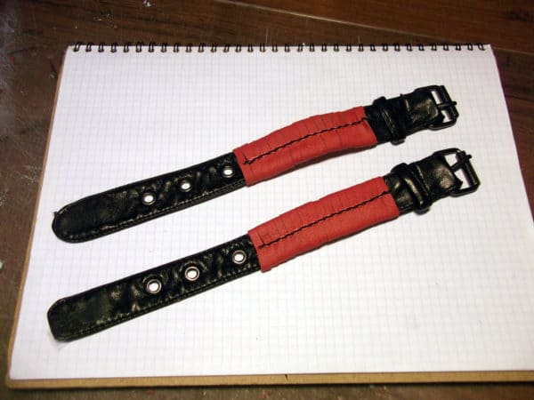 Old Faux Leather Jacket Into Bracelets Accessories