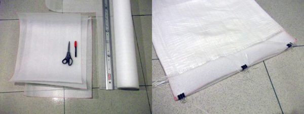 Outdoor Sitting Mattress From Recycled Plastic Cement Bag Accessories Do-It-Yourself Ideas