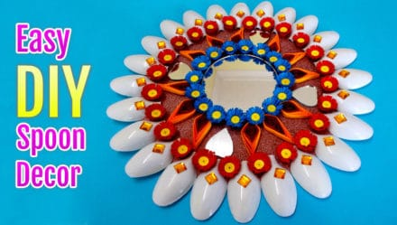 Recycled DIY Projects: How To Make Plastic Spoons & Mirror Wall Decor