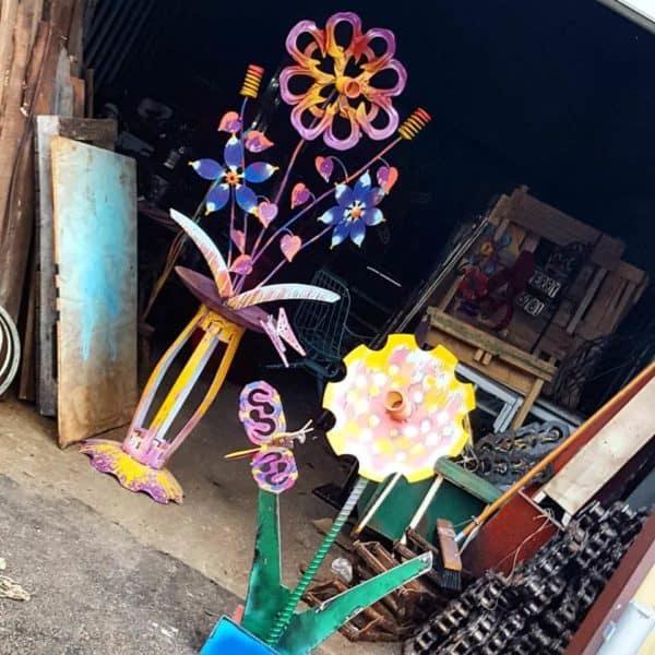 Upcycled Whimsical Garden Art Sculpture Garden Ideas