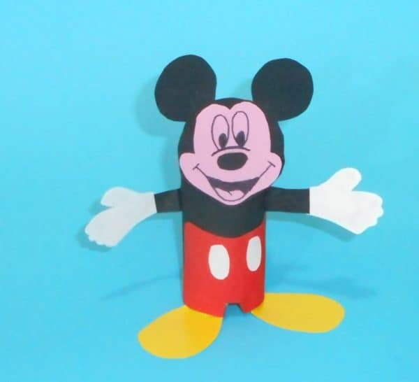 How To Create A Mickey Mouse From Toilet Paper Roll Do-It-Yourself Ideas