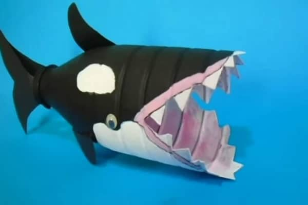 How To Make An Orca Whale From A Recycled Plastic Bottle Do-It-Yourself Ideas Recycled Plastic