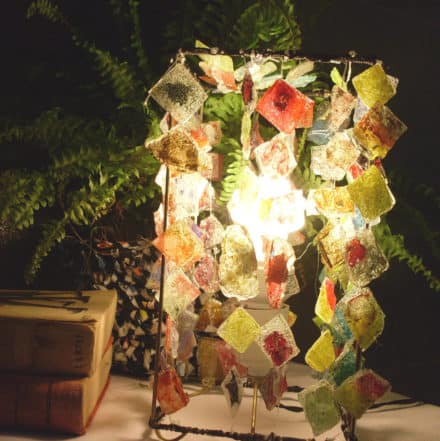 Lamp From Recycled Cd's