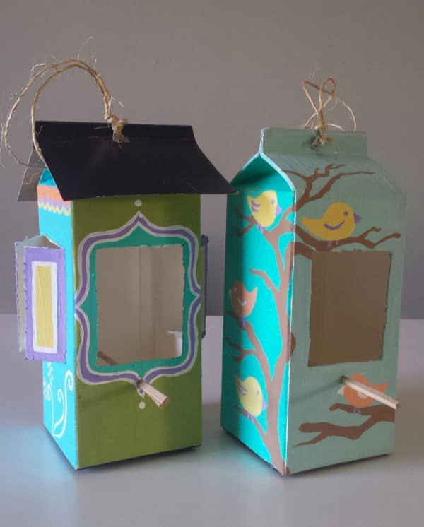 Milk & Juice Cartons Into Bird Feeders Do-It-Yourself Ideas Recycled Cardboard Recycled Packaging