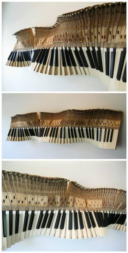 Sound Wave: Sculpture From Old Piano Keys