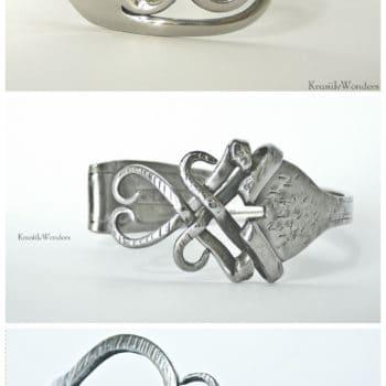 Hand-sculpted Fork Bracelet