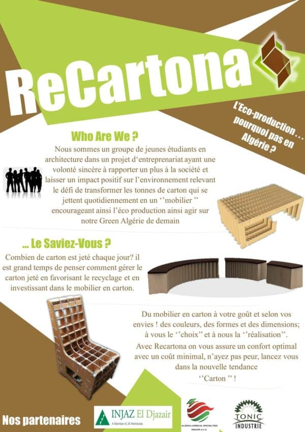 Mobilier En Carton / Cardboard Furniture Recycled Cardboard