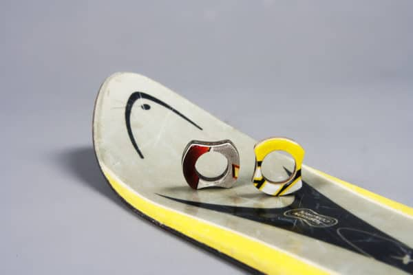 Rings Made Out Of Recycled Skis Recycled Sports Equipment Upcycled Jewelry Ideas