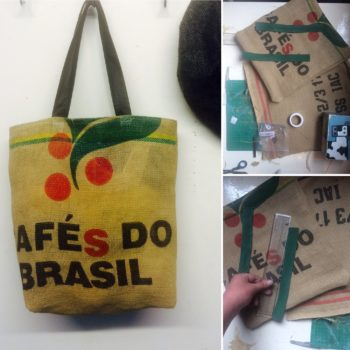 Coffee Bean Sack Upcycled Into Beautiful Bag