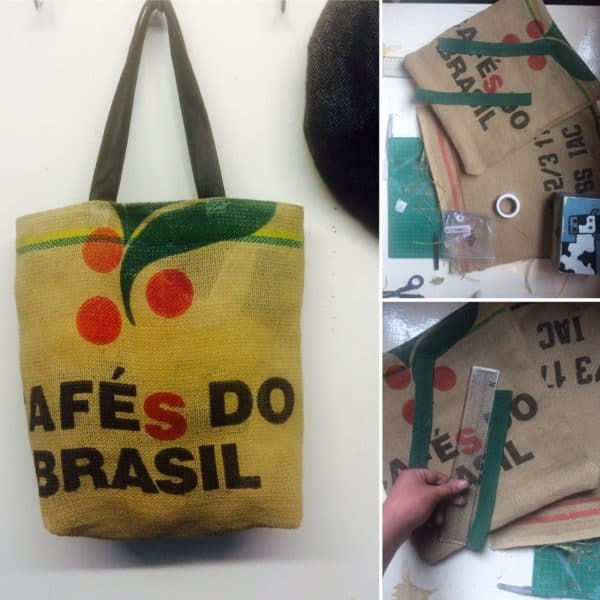 Coffee Bean Sack Upcycled Into Beautiful Bag Accessories