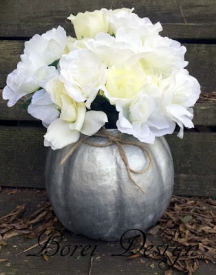 Easy Fall Paper Mache Pumpkin Container Or Vase