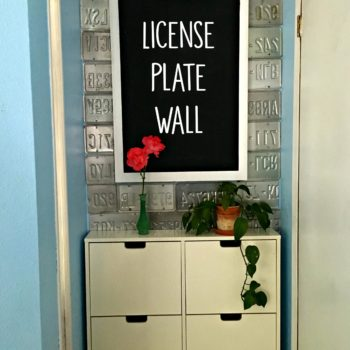 Diy License Plate Wall