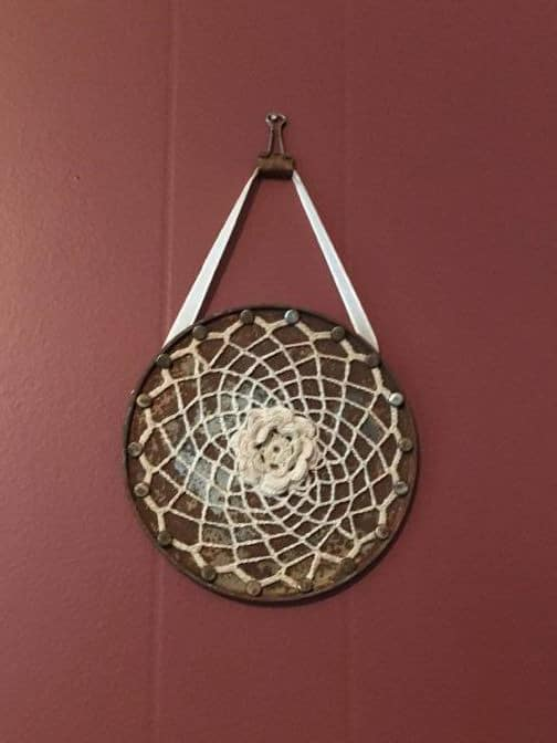 Recycled Coffee Can Rims Into Dream Catchers Recycling Metal