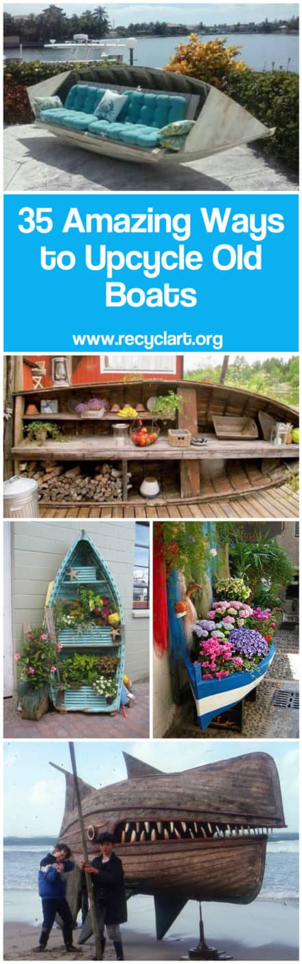 35 Amazing Ways to Upcycle Old Boats