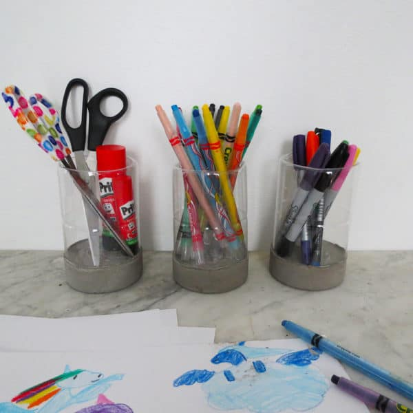 A Modern Pencil Holder Do-It-Yourself Ideas Recycled Plastic