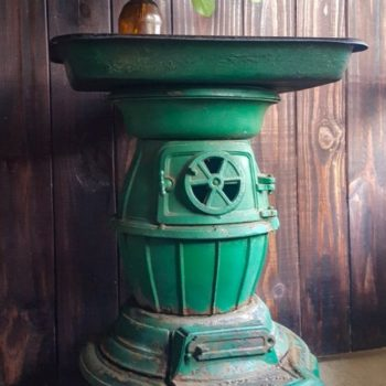 Recycling A Cast Iron Stove Into A Side Table