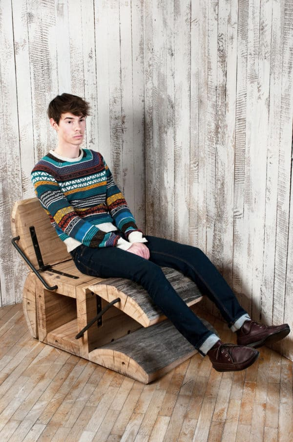 The 'waste Less' Rockin Chair by Architecture Uncomfortable Workshop Recycled Furniture Wood & Organic