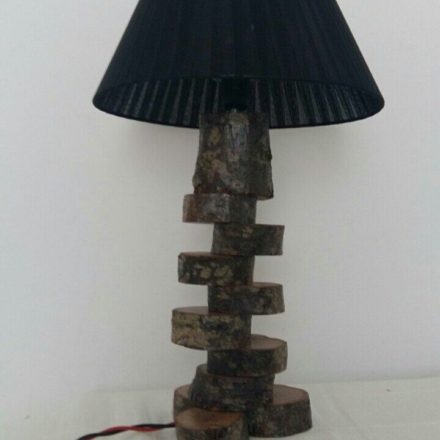 Wooden Logs Desk Lamp
