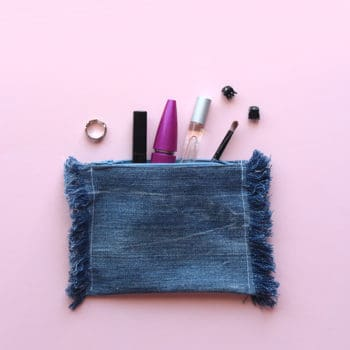 Diy: Upcycled Frayed Denim Pouch