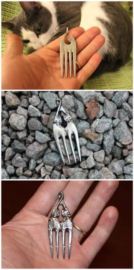 Old Forks Into Necklaces