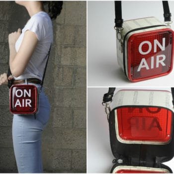 On Air Women Handbag from Repurposed Light Box