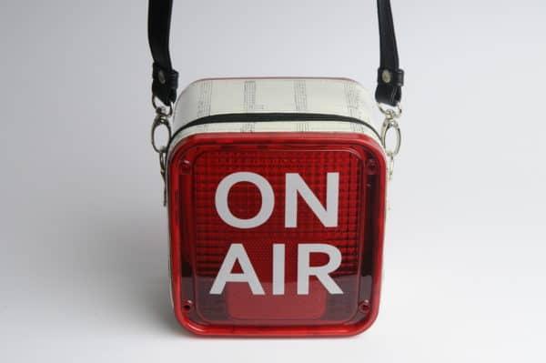 On Air Women Handbag from Repurposed Light Box Clothing