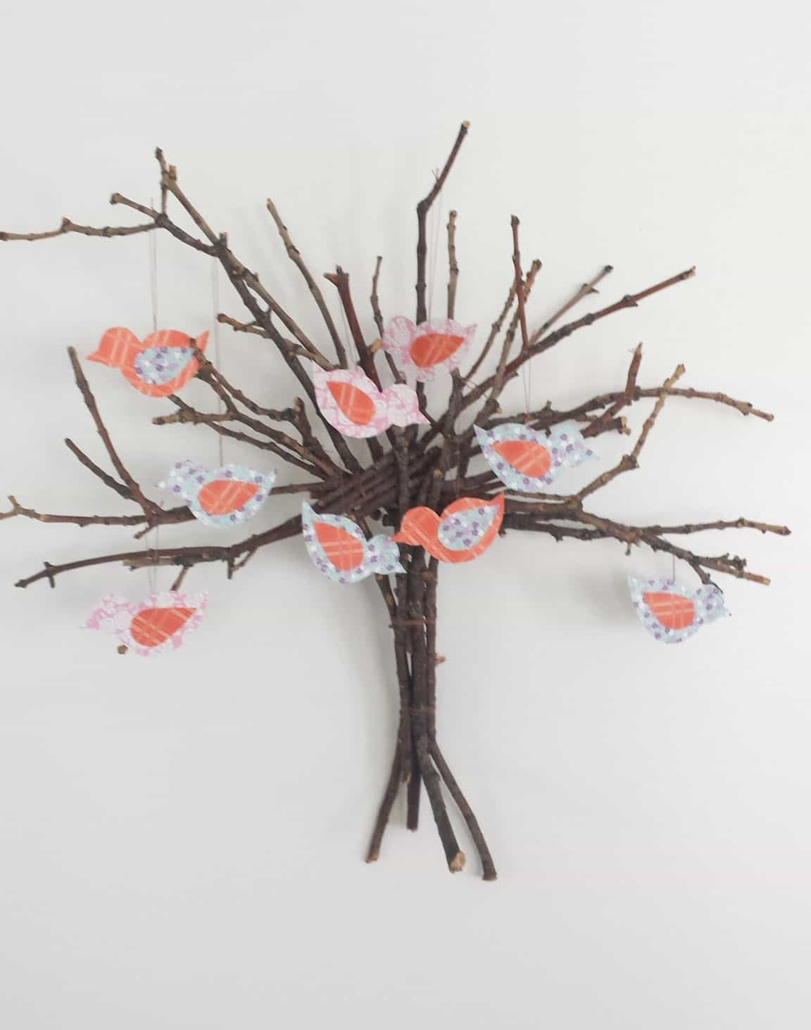 Twig Tree Wall Decor Diy Recycled Ideas Recyclart