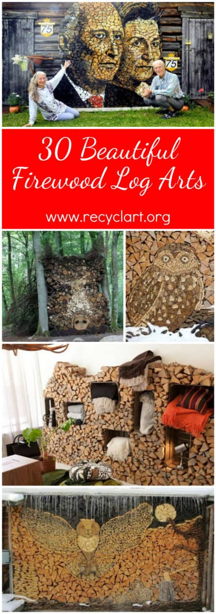 30 Beautiful Firewood Log Arts