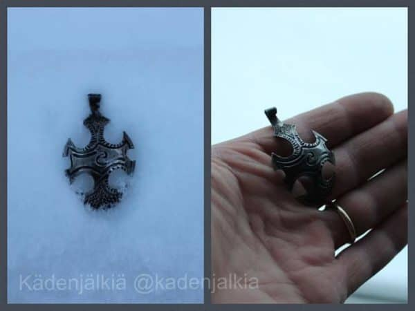 Battlespoon: Recycled Stainless Teaspoon Pendant in Heavy Metal Style Recycling Metal Upcycled Jewelry Ideas