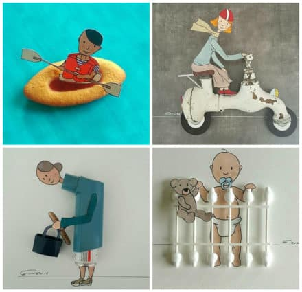 Draws From Reused Everyday Objects