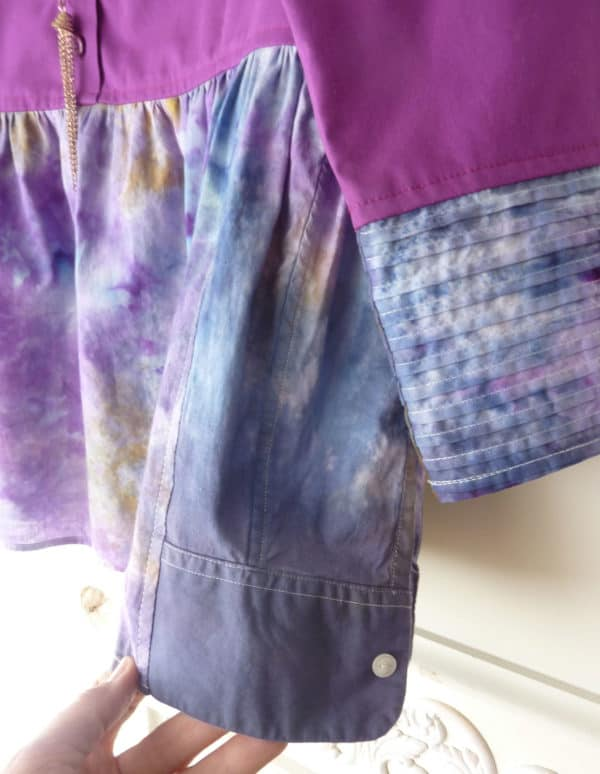Ice Dyed Refashioned Babydoll  Top Clothing