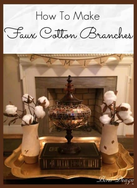 Recycled DIY Decor: Faux Raw Cotton Branches